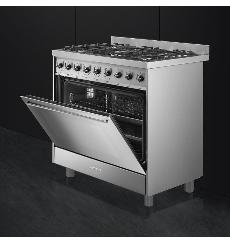 Cocina a gas de 90cm smeg store bcn for Accesorios para cocina a gas