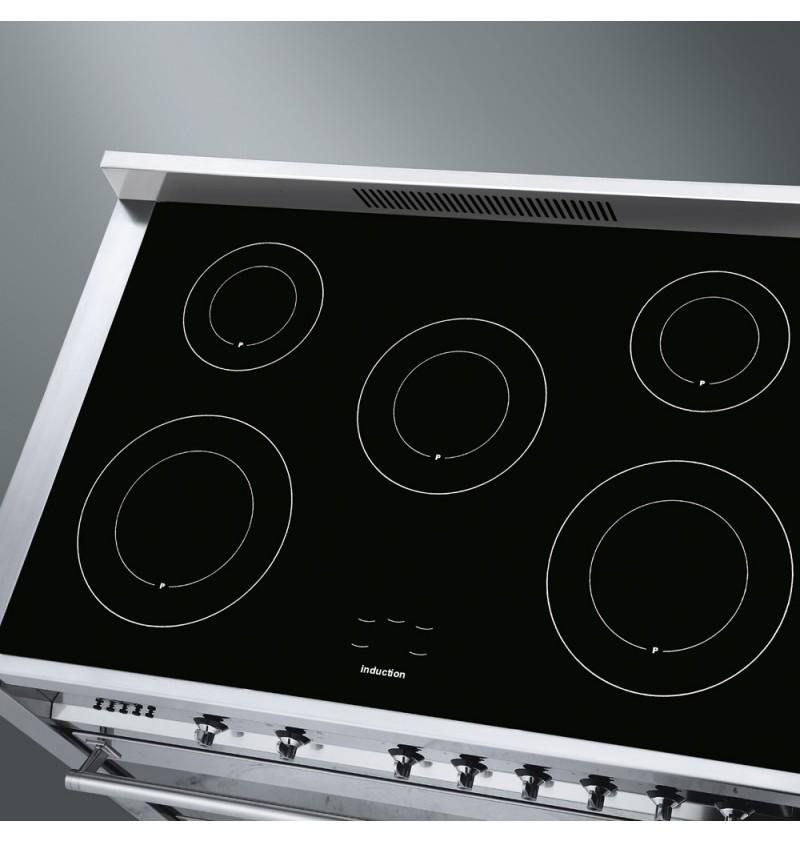 Cocina inducci n 90cm smeg store bcn for Cocinar induccion