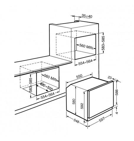 Horno termoventilado Smeg SF750